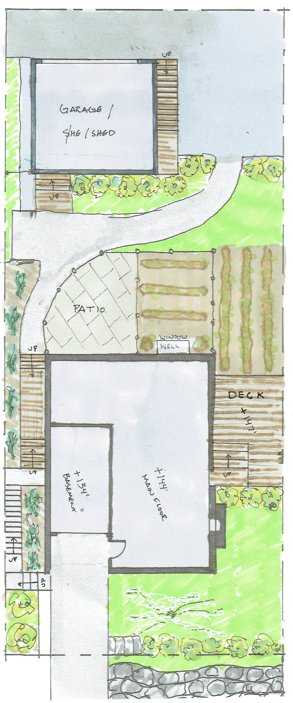 Site Plan Features F Haus And S Haus (above The Garage)