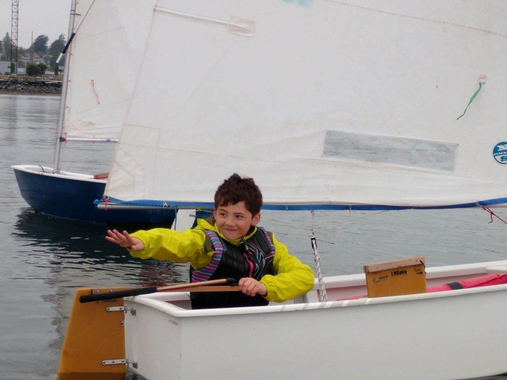 Youth Learn the fundamentals of sailing on beautiful Fidalgo bay