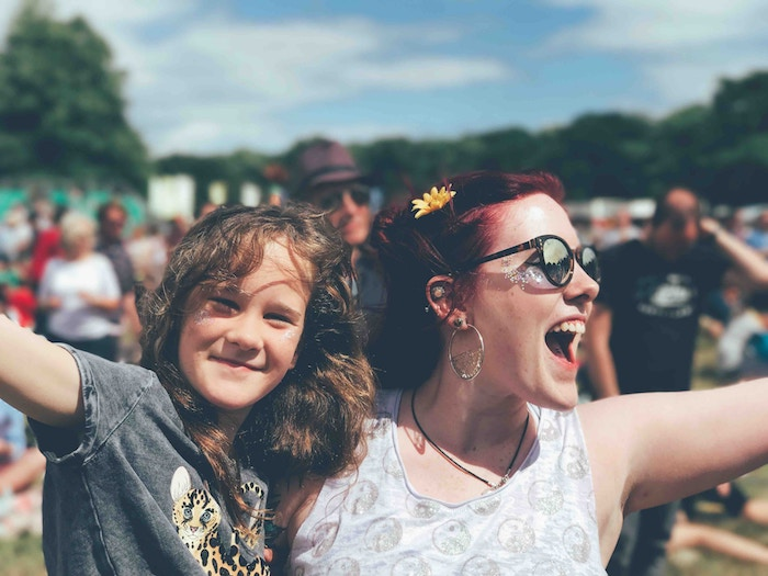 Image of happy girls at a festival