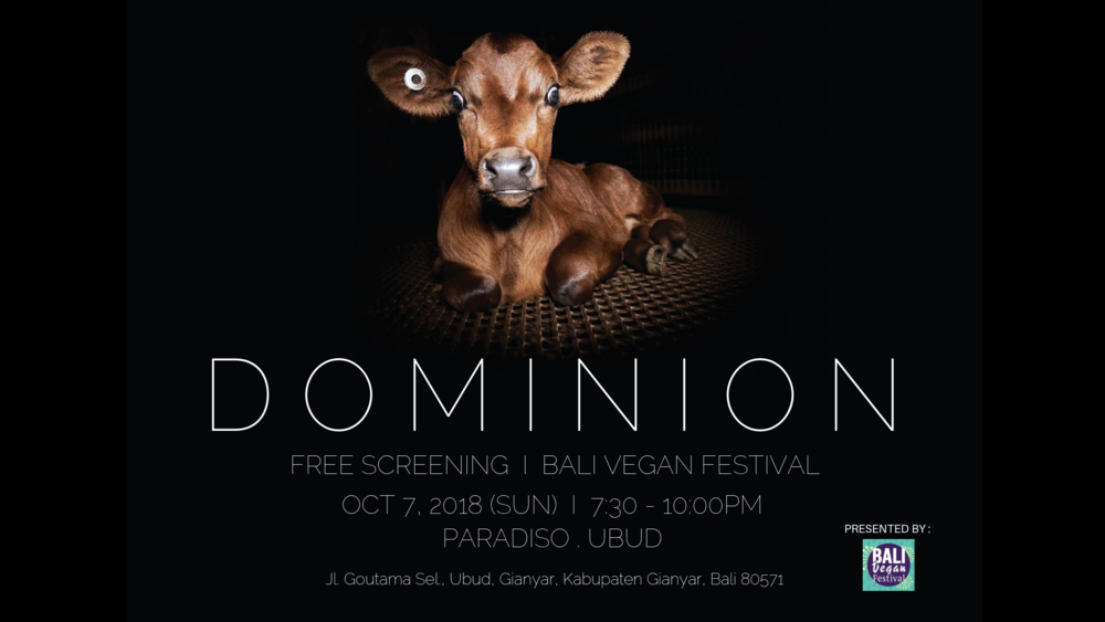 Dominion Vegan documentary WOMB Hong Kong Bali Vegan Festival
