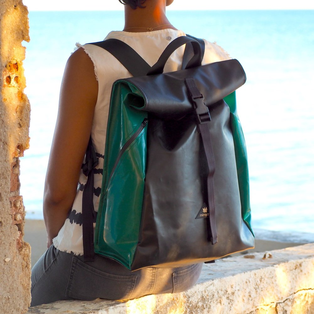 MIMYCRI RECYCLED RUBBER BOATS BACKPACKS.JPG