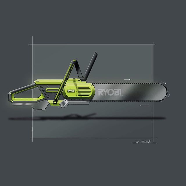 Haven't drawn something for fun in a long time. Thought i might give the @weeklydesignchallenge a go. Here's a chainsaw concept based on #ryobi branding #chainsaw #powertools #designsketching #autodesksketchbook #photoshop #wacom #instilldesign #idsketching #productdesign #productdesigner #industrialdesign @brunel_design_society @advdessketch