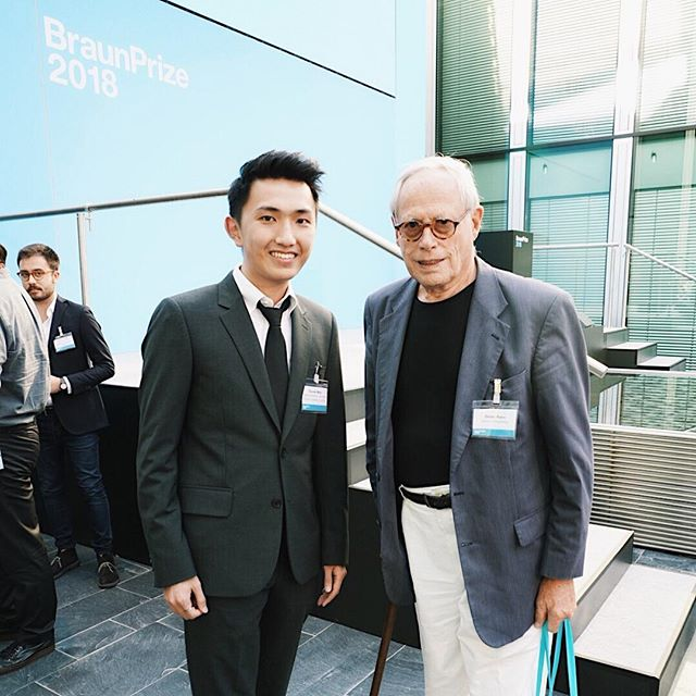 Do meet your heros. 🤩 #starstruck #bruanprize2018 #dieterrams #braun #madeinbrunel #productdesign #industrialdesign #bruneluniversity #gooddesign #designengineering @braunprize  @brunel_design_workshops @madeinbrunel credited @gsjy97