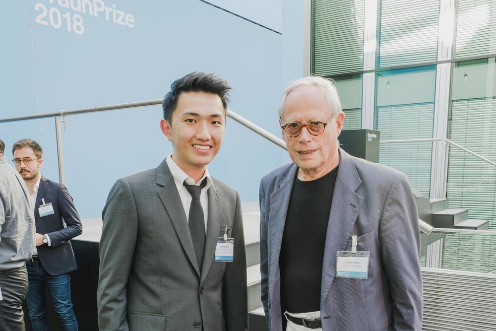 And finally, highlight of the day, meeting Mr. Dieter Rams in person!