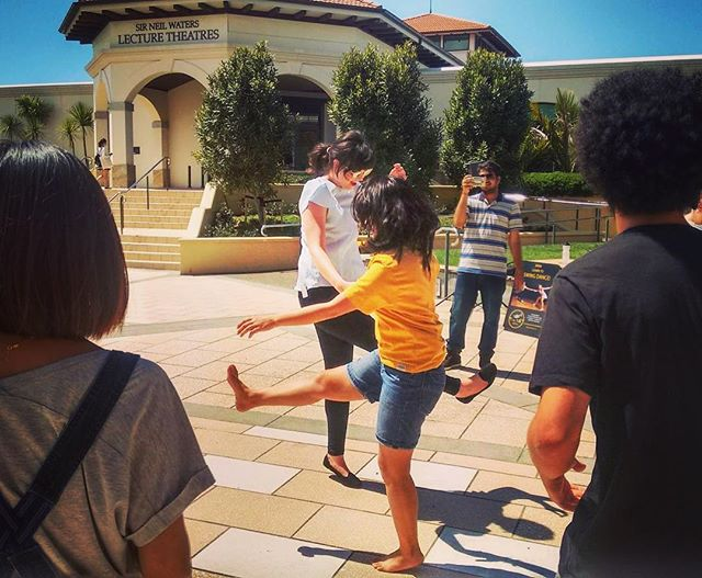 Hot, but awesome fun - Swing Dance class at #masseyuniversity for O Week! Come join us for weekly classes! #auckland #northshoreauckland #nz🇳🇿