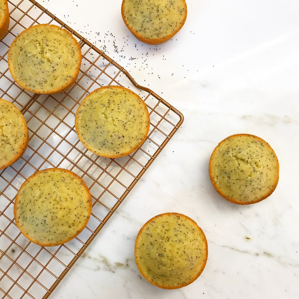 Lemon Poppyseed MUFFINS - $48.00 per dozenYour childhood favorite has been reinvented!As always, these are grain, gluten, refined sugar, dairy, soy, and junk free!Ingredients: almond flour, eggs, lemon juice, arrowroot, maple syrup, coconut oil, poppy seeds, lemon zest, vanilla, baking soda, pink Himalayan sea salt