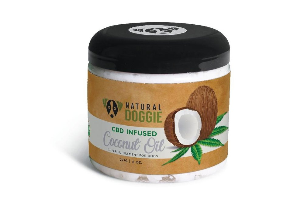 CBD infused Coconut Oil - A perfect match. This food topper super supplement calms anxiety, reduces pain, and alleviates itchy skin due to allergies.