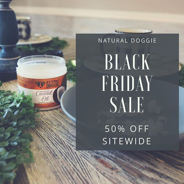 Check out our Black Friday Dog Deals! . 50% OFF ALL PRODUCTS . While supplies last. Link in bio😆