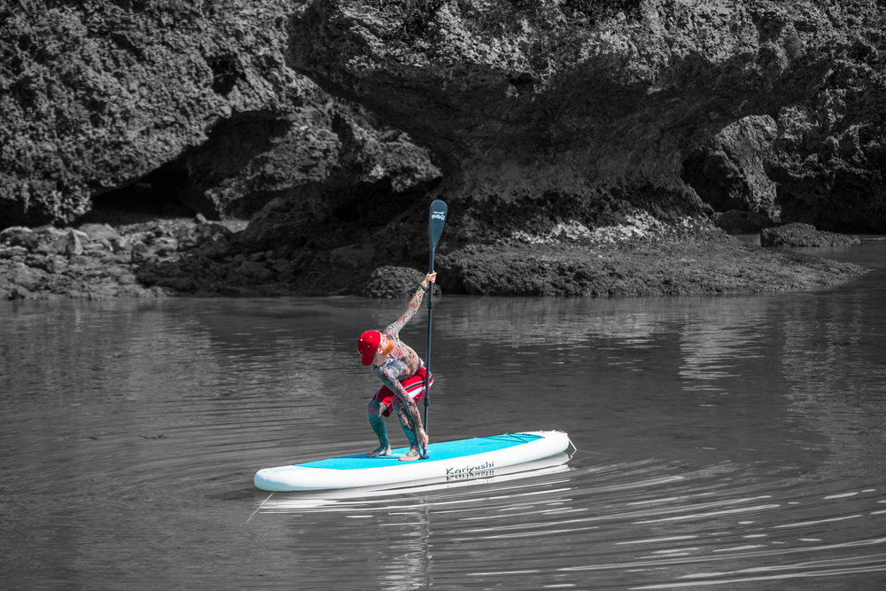 SUP Yoga with a Paddle - - An innovative approach to using your paddle as a prop to deepen your SUP yoga practice- Detailed instructions on the hows and whys of including your stand up paddle as a prop in your practice and teachings