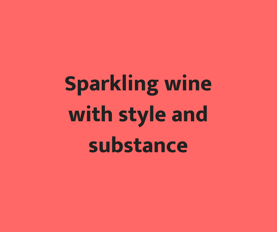 Sparkling wine with style and substance in the $21 range