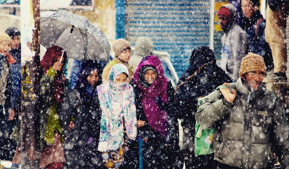 Life goes on even as it snows in Kargil