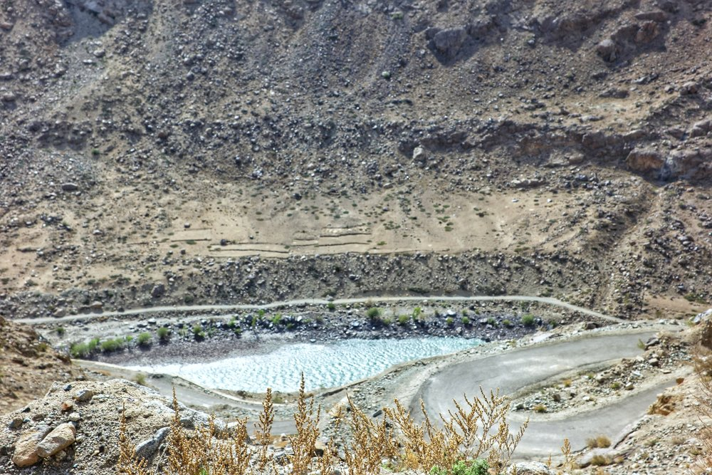 The Old Road which in the old days connected Kargil with Drass along the Shingo River