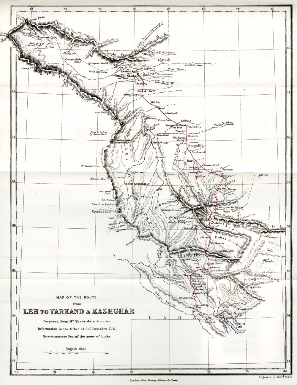 1871 Leh to Yarkand and Kashghar by Robert Shaw.jpg