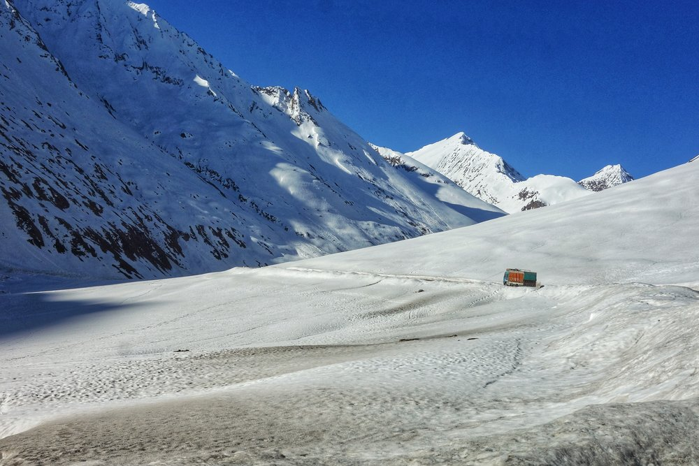 The Zoji La (Pass) as it cuts through the Great Himalayan Range