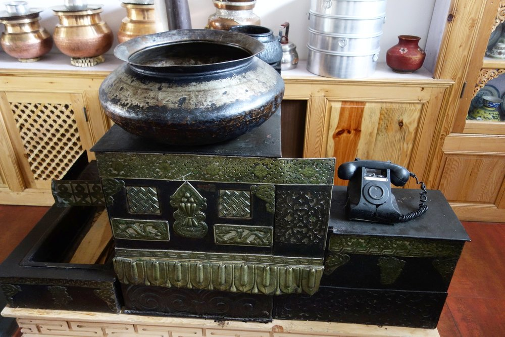 An Antique Traditional Stove at display at a Hotel which was built on the exact location where a Trader Sarai existed decades ago.