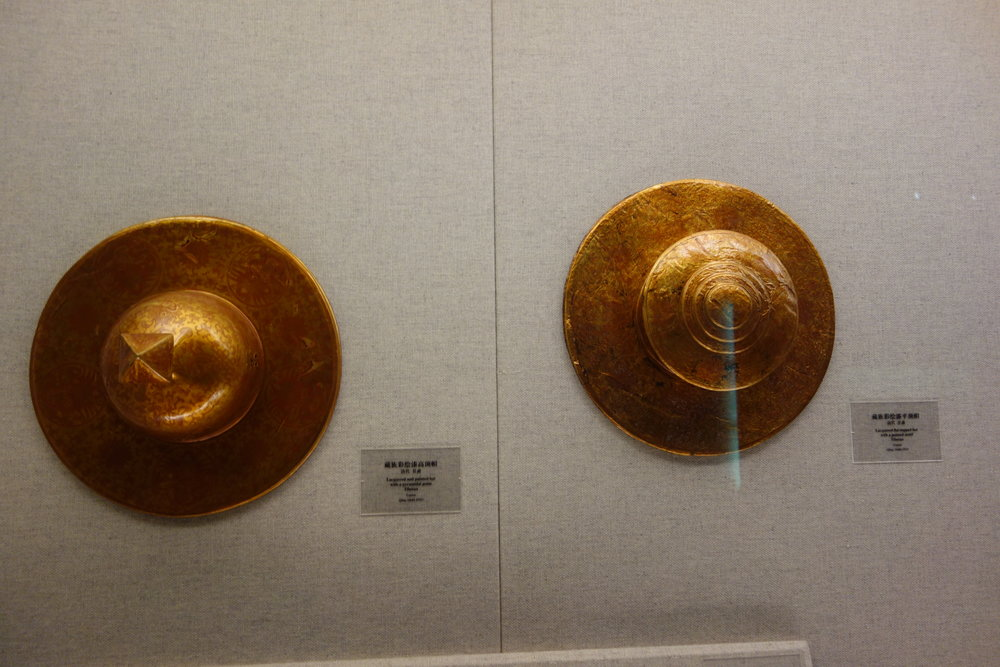 Left : Lacquered Hat with Pyramidal Point Right : Lacquered Hat with Flat Point