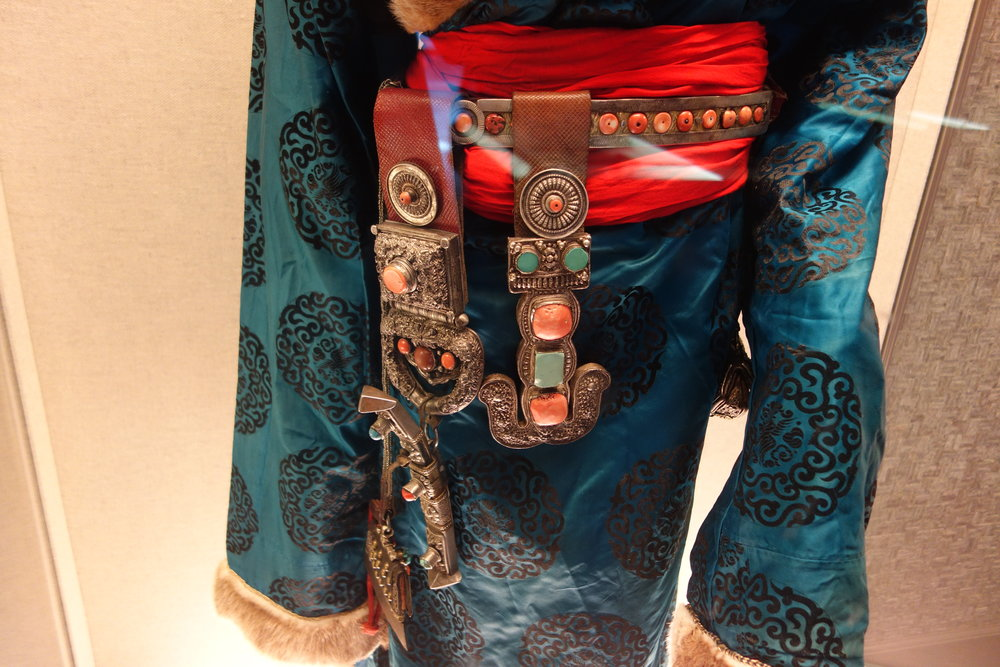 Tibetan Ceremonial Dress w/ Jade and Metal Finery