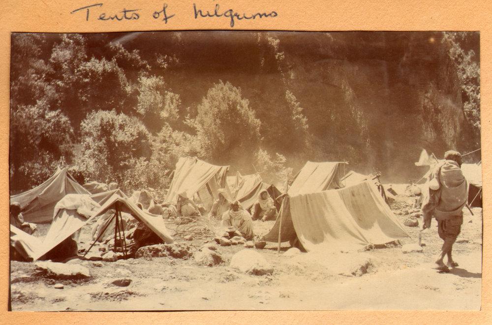 159 1920 Tents of pilgrims, Pahlgam, Kashmir by Ralph Stewart