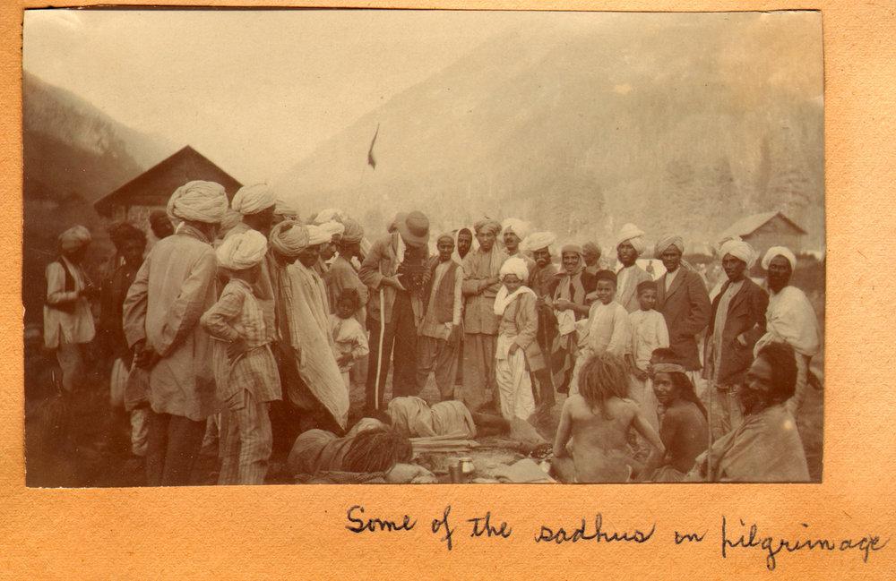 167 1920 Some of the sadhus on Amarnath pilgrimage, Pahlgam, Kashmir by Ralph Stewart