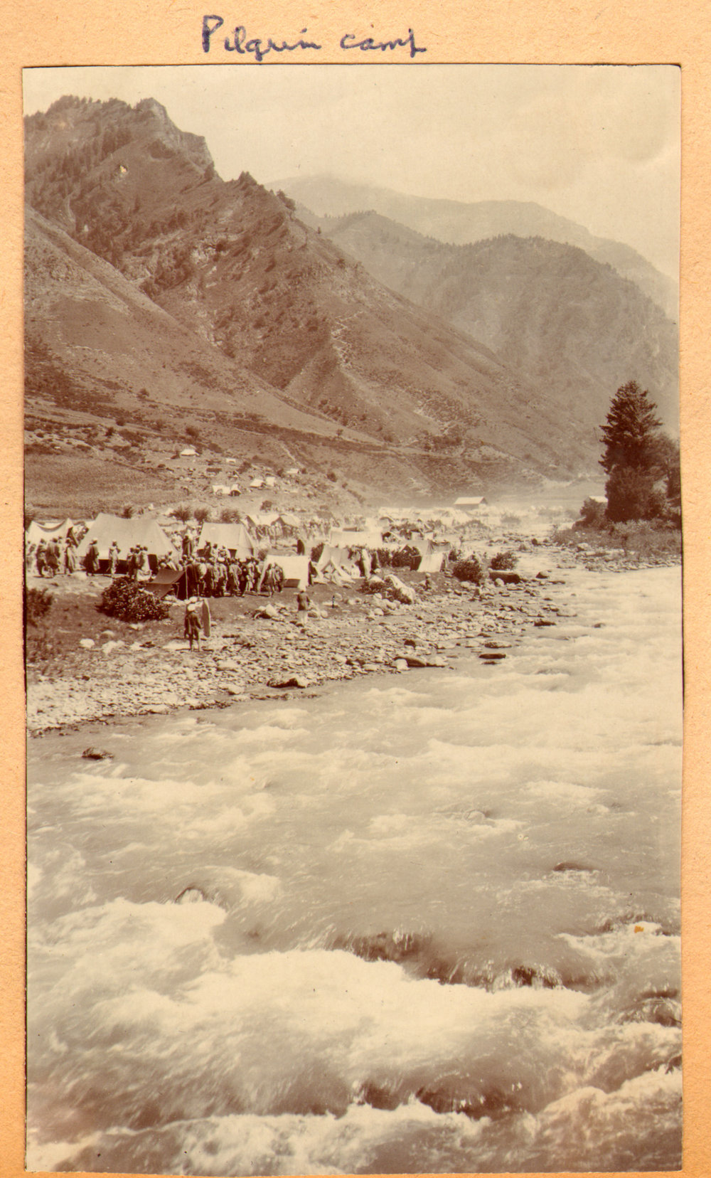 169 1920 Amarnath pilgrim camp, Kashmir by Ralph Stewart.jpg