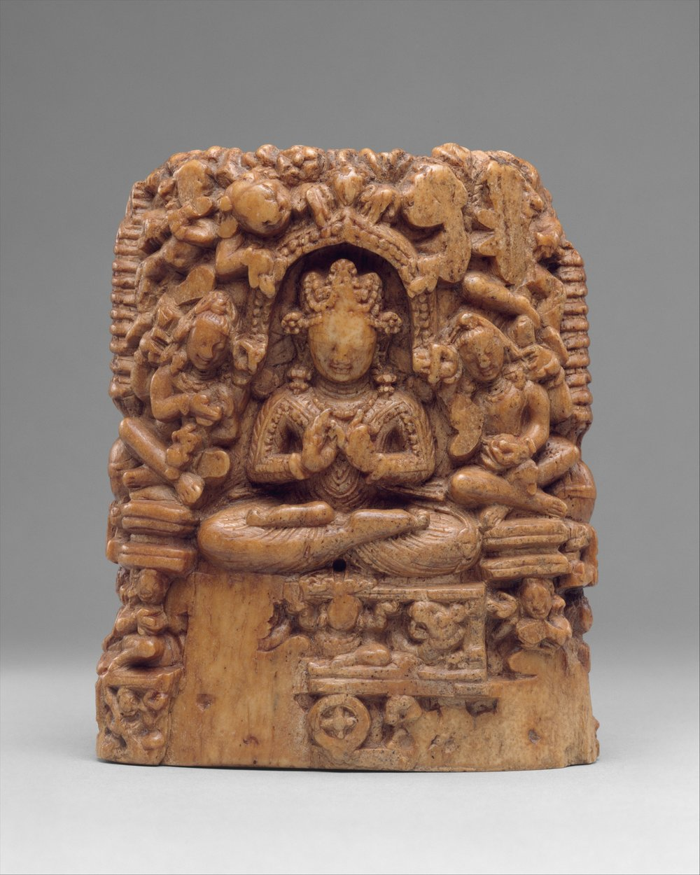 A Reliquary Showing scenes from Buddha's life from Kashmir