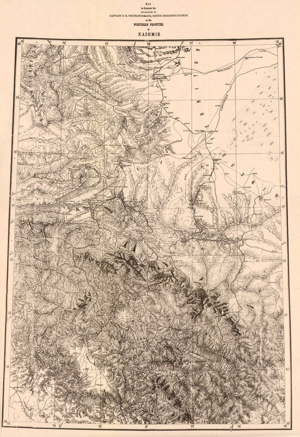 The Northern Frontier of Kashmir by Francis Younghusband 1880