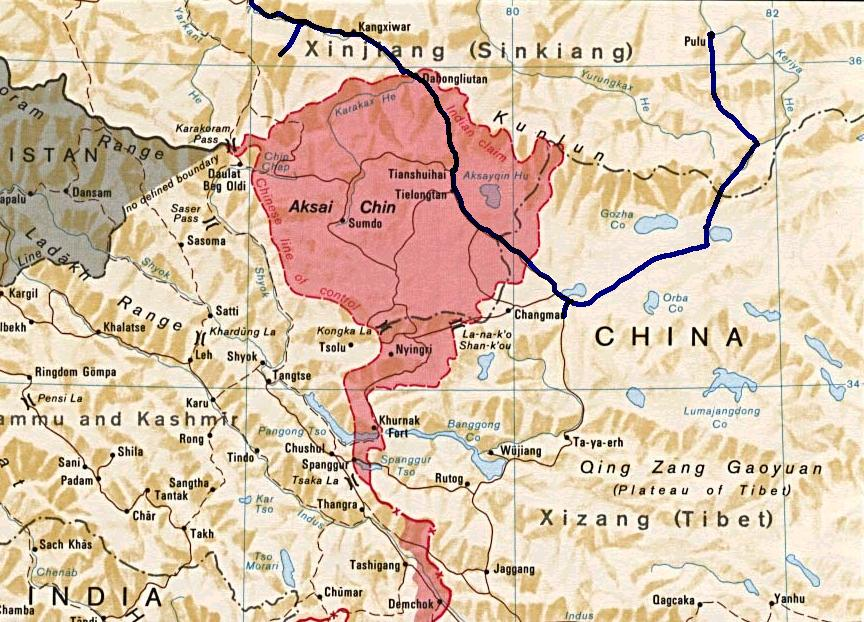 The Disputed Region of Aksai Chin
