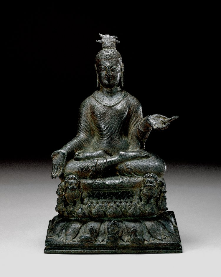 Figure (Buddha). Made of bronze.  9th C -10th C