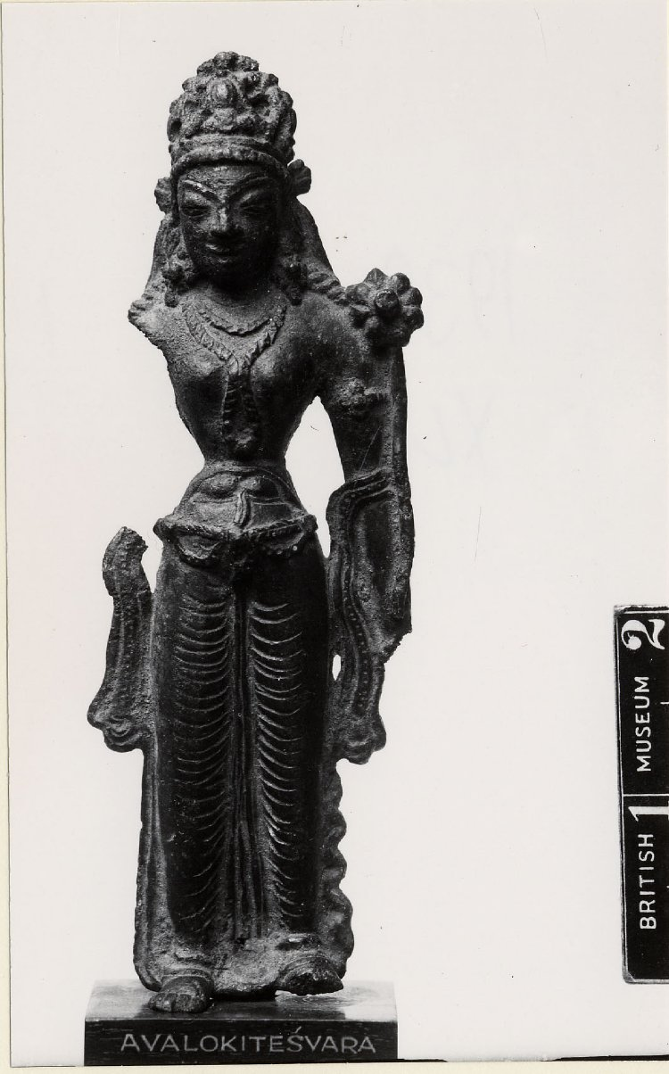 A bronze standing figure of Tara, missing proper right arm. 11th C - 13th C