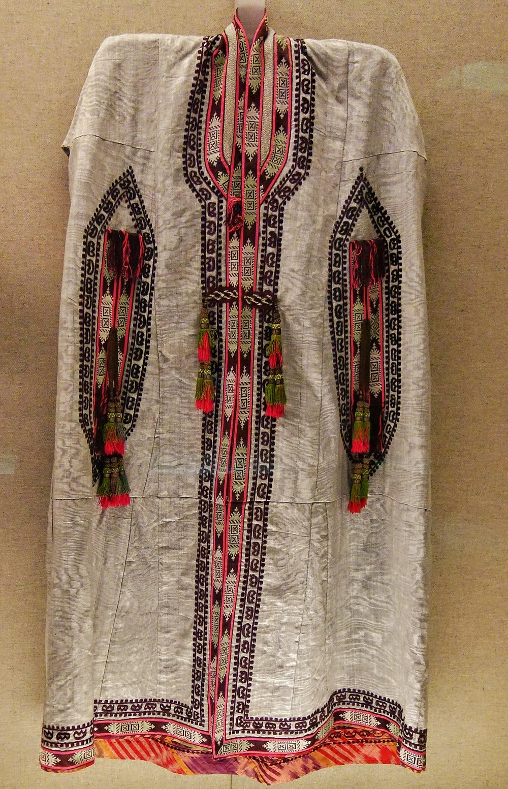 Uzbek Woman's Dress with Embroidery