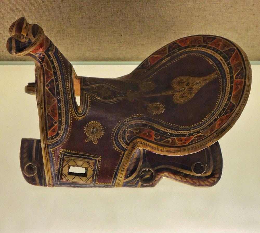 Ughyur Saddle with Painted Motif