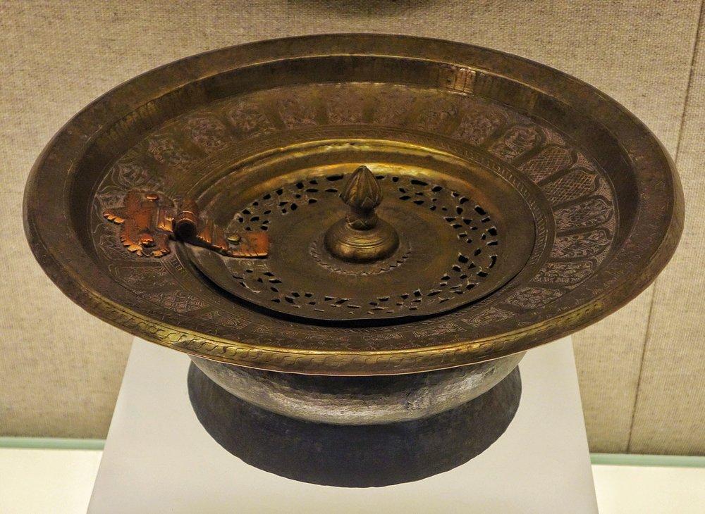 Ughyur Copper Basin with carved Motif