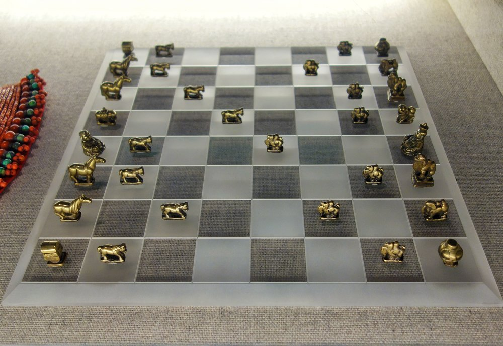Mongol Brass Chess Pieces