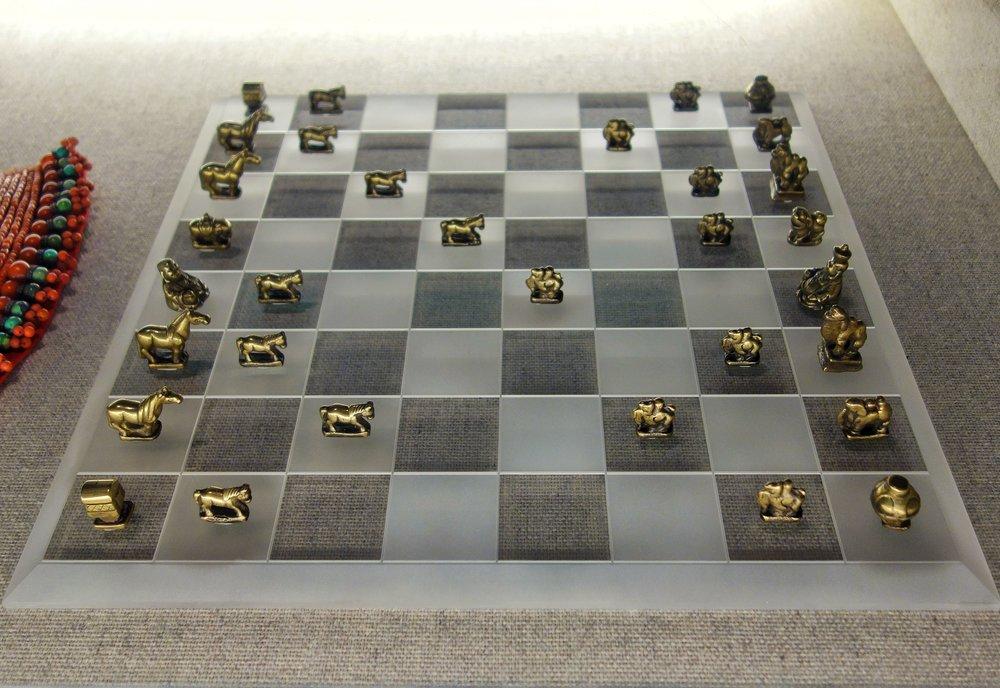 Mongol Brass Chess Pieces
