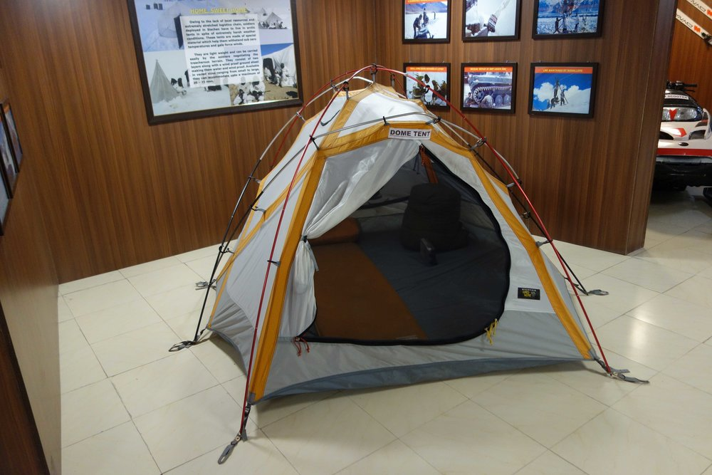 A high end Dome tent for two people.