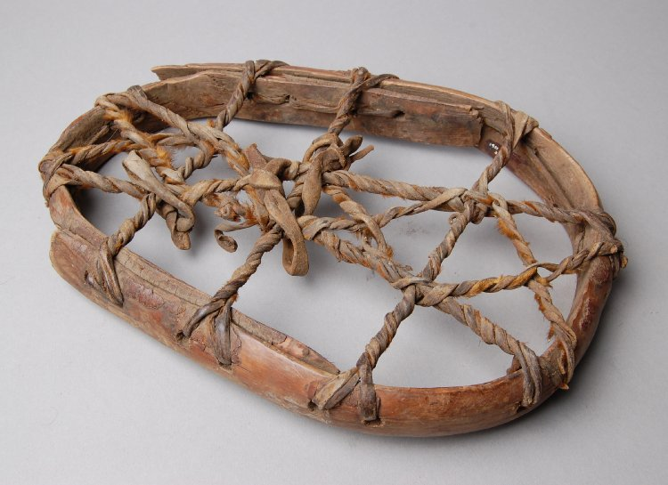 Snow-shoe (one of a pair) made of wood, hide-ladakh
