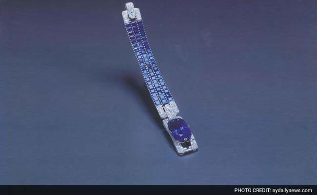 The Kashmir Sapphire Bracelet that was stolen from the Four Seasons in Milan in 1996