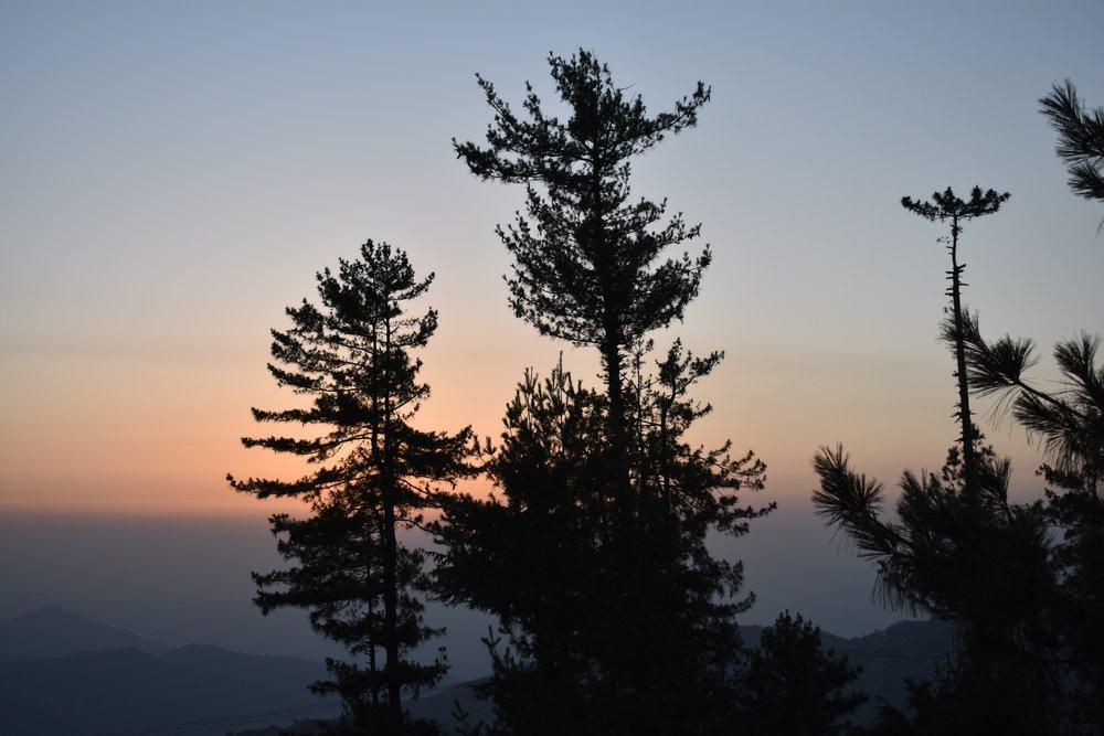 sunset-shimla