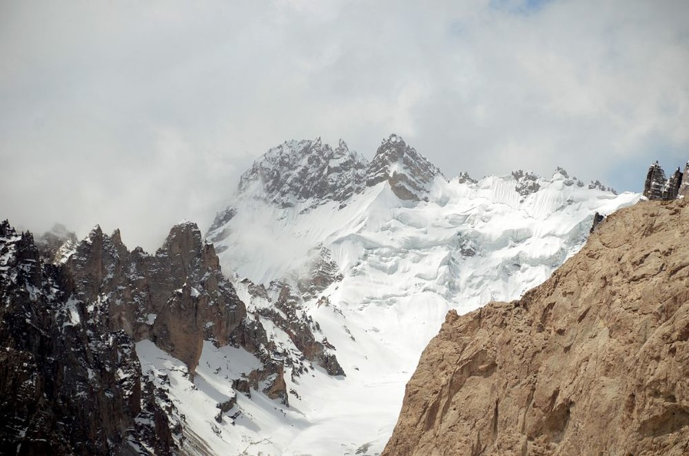 Mountain Across The Shaksgam Valley On Descent From Aghil Pass On Trek To K2 North Face In China. Pic credit Jerome Ryan