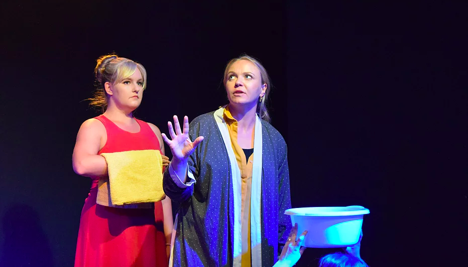 Amy Reitsma and Katherine Leyva in The Squirrel Plays at Theatre 503
