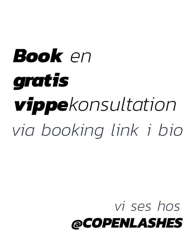 Er du i tvivl om hvilken behandling passer dig bedst? Kom forbi for en uforpligtende snak med vores stylist 👌� . . . . . #gratis #gratiskonsultation #vippeextensions #vipper #københavn #østerbro
