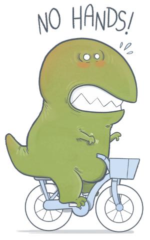 T-Rex Goes Biking  by Anna-Maria Jung