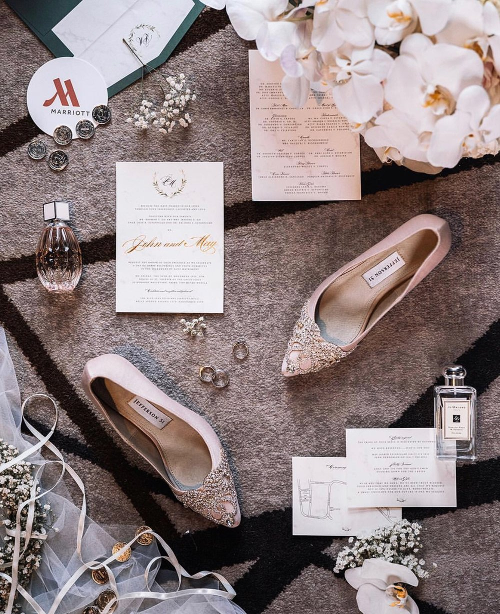 """""""Love you too Jeff 😘 Thank you again for the perfect wedding shoes! They gave me that extra boost of confidence and glamour on the big day not to mention the comfort during the biggest walk of my life!  My mom said her shoes got mistaken for the bridal shoes. That's how fabulous your creations are! Stay kind and sweet. You've accomplished so much already but I know you're still destined for more and no doubt you'll achieve them all. God bless you always."""""""