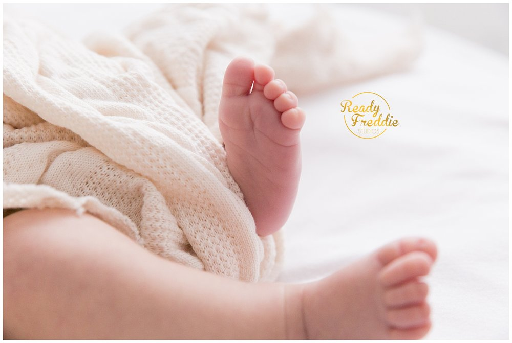 newborn baby toes and feet details