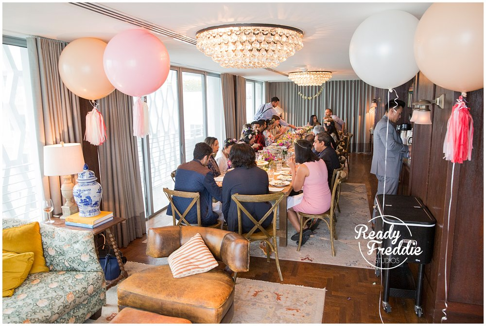 soho beach house penthouse baby shower lunch