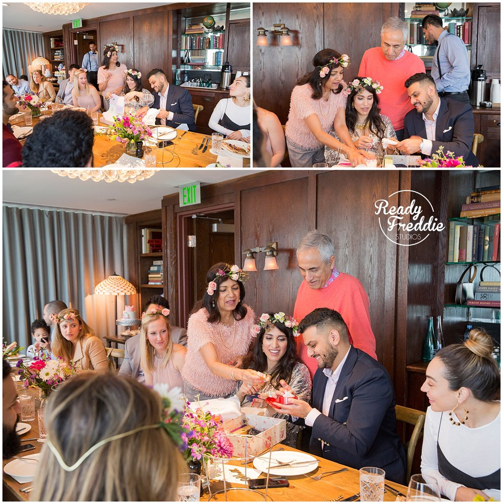 guest exchanging laughs during baby shower event at the soho beach house in south florida