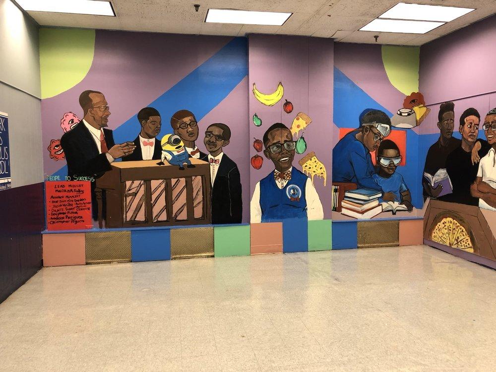 """The Pillars of the Newark Boys Chorus School"" Final Mural 2018"