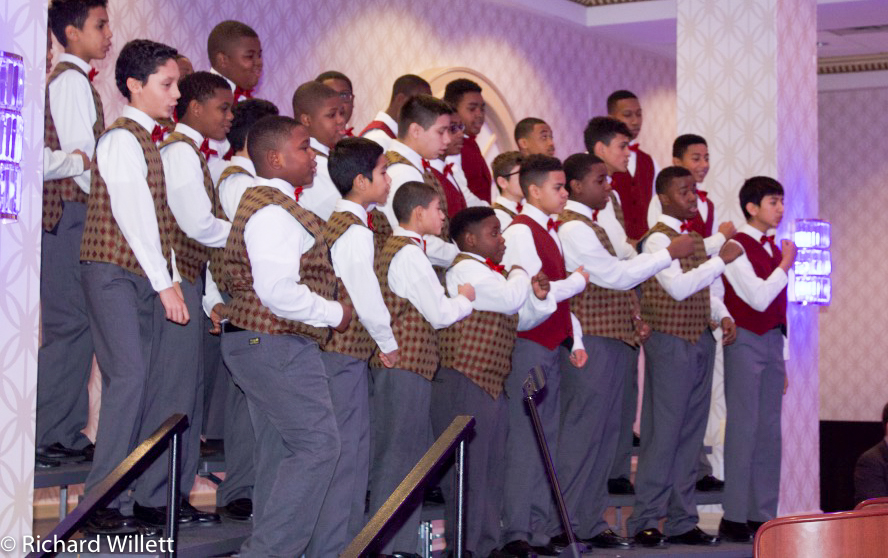 Concert Chorus performing at the Financial Leaders Breakfast.   All photographs courtesy of Sakiyyah Darden.