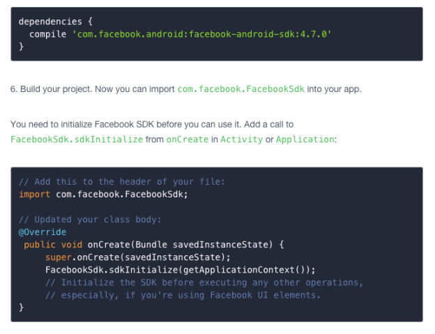 Get Facebook's SDK up and running with 3 lines of code.