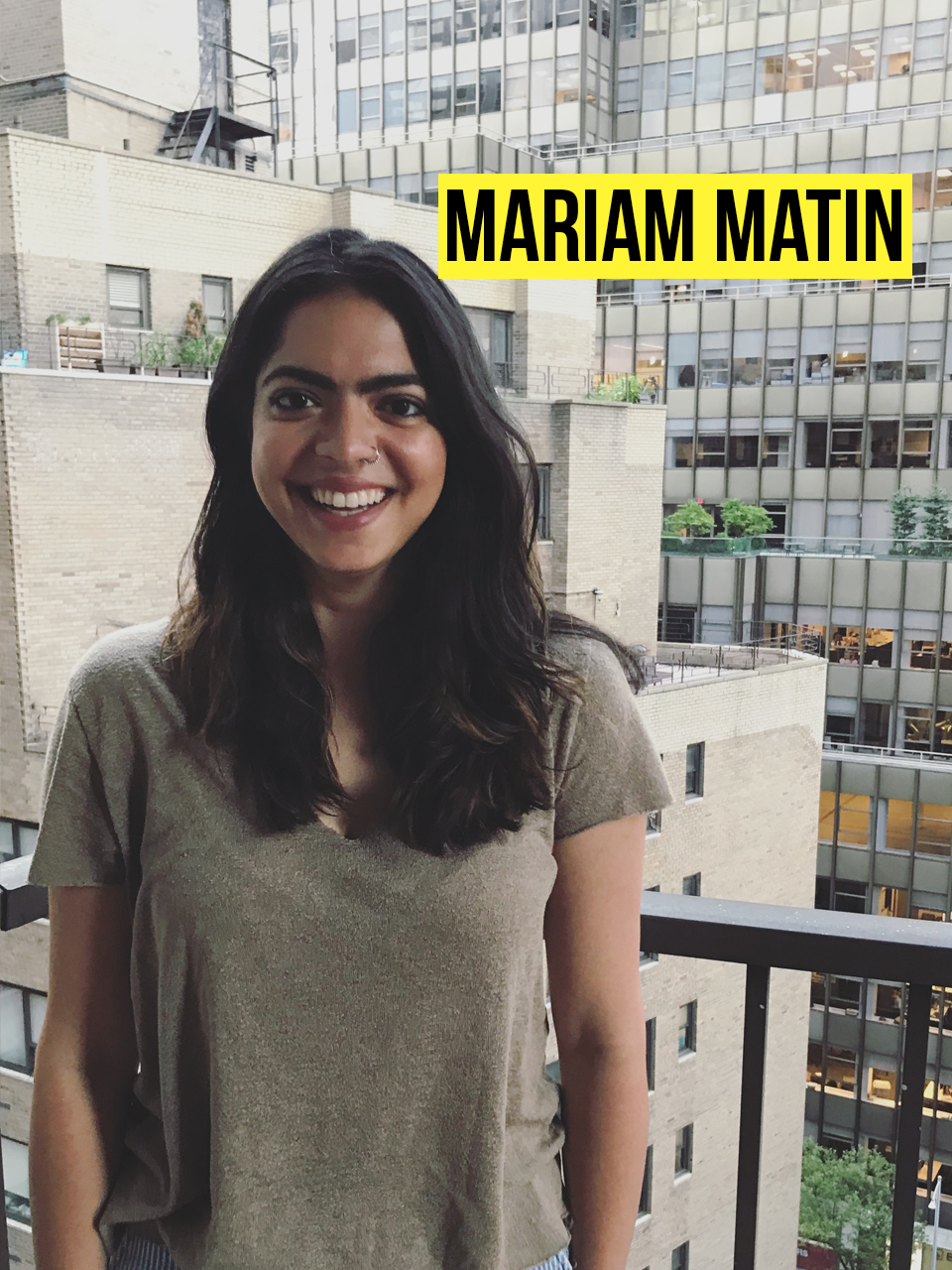 "co-founder, director of product marketing - Mariam grew up in Houston, surrounded by family and world-class tacos. She became involved in interfaith issues and girls education in India. She was drawn to Georgetown University for espousing similar Jesuit values and spent her four years studying (""studying"") Econ and Psych. After graduation, she moved to New York to do brand marketing and UX design. Her love for social impact and entrepreneurship (and her lovely co-founders) brought her to Second Day. She handles the branding, marketing, product design/build, and oversees a team of copywriters."